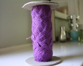 Purple 100% Cotton Spool of RicRac