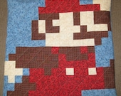Jumping Mario Quilted Pillow Cover - Free Shipping