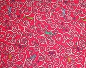 Gustav & Otto in Red Liberty of London tana lawn fabric 6x26