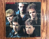 LOVERBOY recycled Keep it up album cover coasters with record bowl
