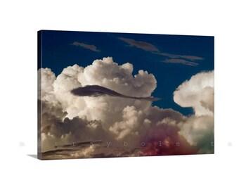 Cloud Art on Canvas, Sky Art, Photography Print, Storm Photographs, Canvas Art, Indigo, Blue Art, Arizona Monsoon, Thunderstorm Art