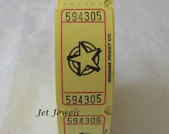100 Tickets, Drink Tickets, Yellow Tickets, Raffle Tickets, Ticket Stub, Carnival Ride Tickets, Game Night, Star Ticket, Scrapbooking 2x1