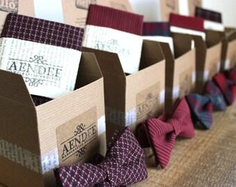 Mismatched Wedding Bow Ties - Groomsmen Bowties - Custom Wedding Bow Ties - Groomsmen Bowties - Matching Pocket Squares (Optional)