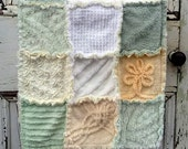 OOAK Vintage Chenille rag Patchwork Quilt Custom Order