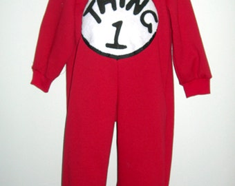 Thing one Thing Two Dr Seuss Costume Both Costumes