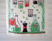 Spicy vintage tea towel
