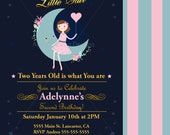 Printable Party Invitation - Twinkle Star Birthday Invitation - Digital File