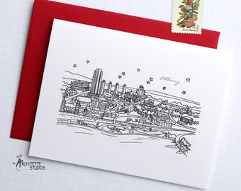 Albany, New York - United States - City Skyline Series - Folded Cards (6)