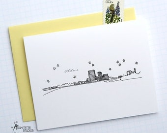Abilene, Texas - United States - City Skyline Series - Folded Cards (6)