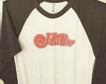 Hater/ Heart baseball t-shirt size MEDIUM