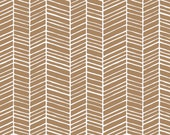 Joel Dewberry Fabric by the Yard - True Colors - Herringbone in Maple - Quilter's Cotton
