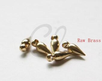 30pcs RAW Brass Bullet Charm - 4x11x3.2mm (3045C-M-5)