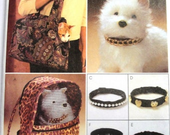 Pet, Carrier, Luggage, Dog, Tote, Cat, Sewing Pattern, Ferret, Collars Soft Side Luggage Animal Uncut