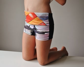 Deadstock, 1970s Wat-A-Boy Swim Trunks~Size 7/8