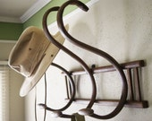 Bentwood Wall Rack for Hats and Coats Mudroom or Entryway Organizer Children's Room Wall Display for Accessories