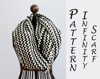 Chevron Infinity Scarf Crochet Pattern, Instant Download, Cowl Crochet  PDF  Pattern, Circle Scarf Pattern