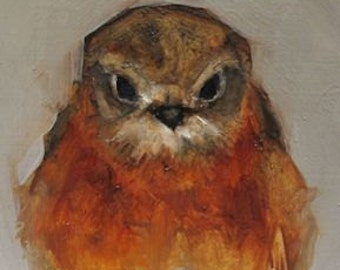 ROBIN BIRD Folk Art Giclee print from my original oil painting