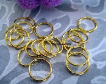 Special Sale for the week GOLD  Open JUMP RINGS -Round gold Connector-open rings-spacer beads-diy bracelets,jewelry hippie beads-gold rings