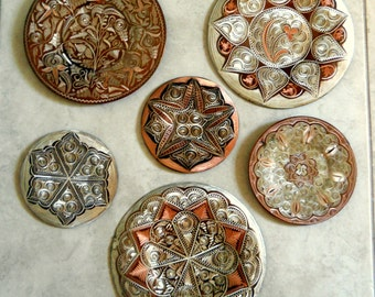 Collection Turkish Plates - Hand Engraved Copper & Metal Wall Plates - Istanbul Turkey -Wallhanging Picture from Erzincanlilar