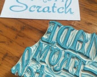 Made From Scratch Rubber Stamp Hand Carved