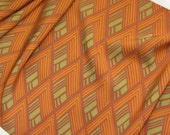 Vintage Japanese Kimono Silk Lovely Geometric Retro Diamond Pattern 60ins long