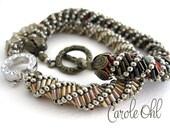 Bugle Twist Bracelet or Necklace Tutorial by Carole Ohl