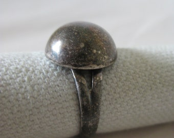 Dome Sterling Ring Vintage Size 6 925 Silver