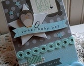 fancy baby Card-Baby Boy Card-SWEET BABY BOY card-baby love handmade card