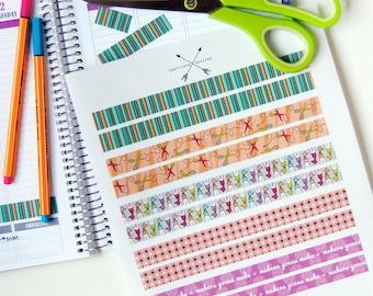 Everyday Crafty Tape Strips Planner Sticker Set