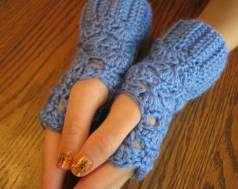 Crochet armwarmers, fingerless gloves