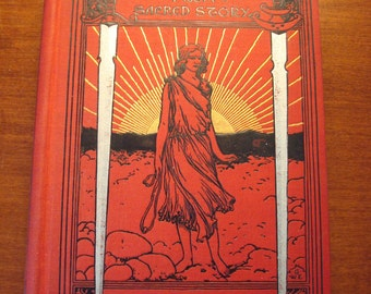 Hero Tales from Sacred Story by Louis Albert Banks- 1897 Funk & Wagnells- 1st edition book, 1st edition, vivid colors