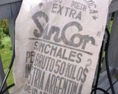 Vintage grain bag, Argentina double sided