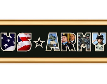 US ARMY 8 x 26 photo collage