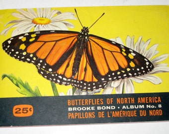 Vintage (1960s) Brooke Bond Butterflies of North America Album and Extra Cards