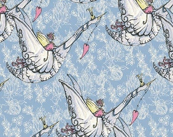 Tina Givens Fabric Sing in Blues from the Riddles and Rhymes Collection 1/2 Yard