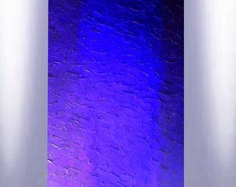 ABSTRACT PAINTING modern palette knife original contemporary art acrylic royal blue metallic textured canvas fine art Carol Lee aka Leearte