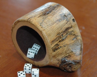 Wood dice cup - Oak