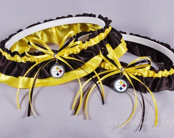 Pittsburgh Steelers Wedding Garter Set