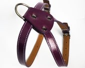 Cool  Leather Dog Harness PURPLE
