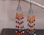 Demeter earrings, dramatic crystal chandelier earrings