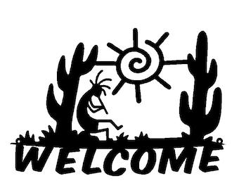 Kokopelli  Metal Art Personalized Sign Address Sign (K27)