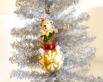 Victorian Polar Bear/ Circus/Carnival Christmas Ornament