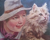 SALE !!! Antique Postcard. From my album Cats and Kittens. Signed Gerstenhauwer.1910 era