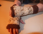 Loom Knitted Fingerless Gloves