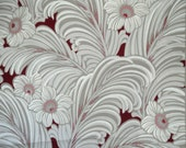 Vintage 50s Tropical Leaves Mid Century Modern Wallpaper Roll 10 YDS Plus Additional Cuttings