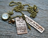 Harry Potter Book Page Stamped Necklace