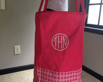 Monogrammed laundry Tote