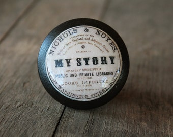 "Vintage Knobs The Books Series Newest Design - "" My Story"""