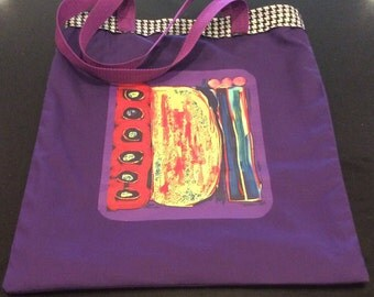 Tote Bag, Cotton, Colorful, Arty,  Modern