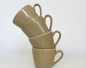 Adorable Green Vintage Mugs - Set of Four